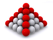 Pyramid from spheres Royalty Free Stock Images