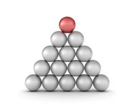 Pyramid of Spheres Stock Photos