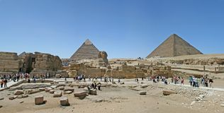Pyramid and Sphinx Royalty Free Stock Photos
