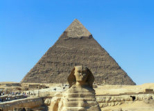 Pyramid and the Sphinx Royalty Free Stock Photos