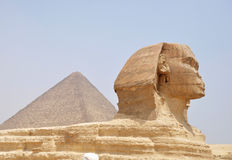 Pyramid and Sphynx Royalty Free Stock Photo