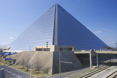 The Pyramid Sports Arena in Memphis, TN Stock Image