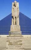 The Pyramid Sports Arena in Memphis, TN with statue of Ramses at entrance Stock Photo