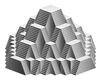 Pyramid staircase design construction Royalty Free Stock Photo