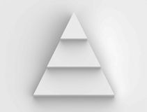 Pyramid step flowchart in white background Stock Photography