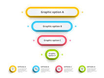 Pyramid 4 step process chart infographics with option circles. F Stock Image