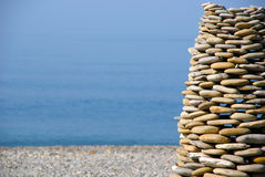 Pyramid of stones. Royalty Free Stock Photos