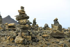 Pyramid of stones Stock Images