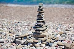 Pyramid of stones Royalty Free Stock Image