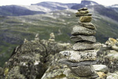 A pyramid of stones Royalty Free Stock Photography