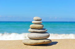 Pyramid of stones, balance stock images