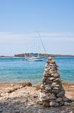The pyramid of stones . Croatia Royalty Free Stock Photography