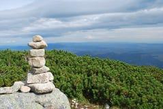 Pyramid of stones. The High Tatras. Slovakia royalty free stock photos