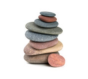 Pyramid of stones Stock Photo