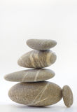 Pyramid of Stones isolated Royalty Free Stock Images