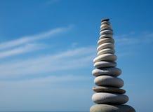 Pyramid of stones for meditation Stock Photos
