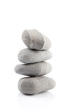 Pyramid of stones over white Stock Image