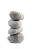 Pyramid of stones over white Royalty Free Stock Image