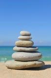Pyramid of stones, zen stock photography