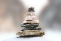 A pyramid of stones. Zen, serenity, balance Royalty Free Stock Photo