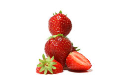 Pyramid of strawberries royalty free stock image