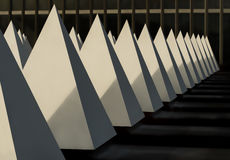 Pyramid structures by Crystal Palace pool entrance Stock Photo