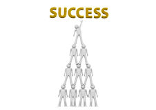 Pyramid of success Royalty Free Stock Photo