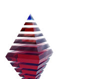 The pyramid of success and leadership Stock Photo