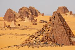 Pyramid in Sudan Royalty Free Stock Photo
