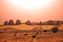 Pyramid in Sudan Royalty Free Stock Image