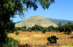 Pyramid of the Sun. In Teotihuacan, Mexico Stock Image