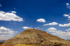 Pyramid of the Sun and Blue Sky Royalty Free Stock Photography