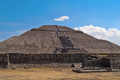 Pyramid of the Sun city of Teotihuacan in Mexico Royalty Free Stock Photography