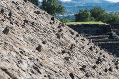 Pyramid of the Sun Slope with Rocks Sticking Out Stock Images