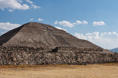 Pyramid of the Sun. Teotihuacan Royalty Free Stock Photography
