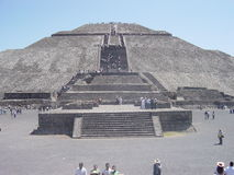 The Pyramid of the Sun at Teotihuacan royalty free stock photos
