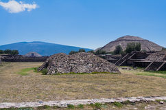 Pyramid of The Sun Teotihuacan Stock Images