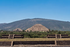 Pyramid of The Sun Teotihuacan Stock Photo
