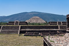 Pyramid of The Sun Teotihuacan Royalty Free Stock Images
