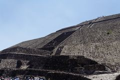 Pyramid of The Sun Teotihuacan Royalty Free Stock Photo