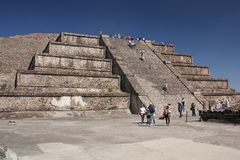 Pyramid of the Sun at Teotihuacan ancient pre-Columbian site, Mexico Stock Photos