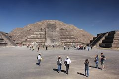 Pyramid of the Sun at Teotihuacan ancient pre-Columbian site, Mexico Stock Photo