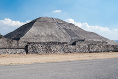 Pyramid of The Sun Teotihuacan Royalty Free Stock Image