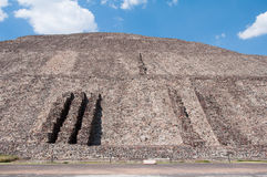 Pyramid of the Sun, Teotihuacan (Mexico) Royalty Free Stock Image