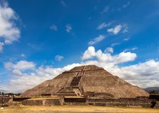 Pyramid of the Sun in Teotihuacan, Mexico. Royalty Free Stock Photos