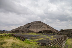 Pyramid of the Sun. Teotihuacan. Mexico Stock Images