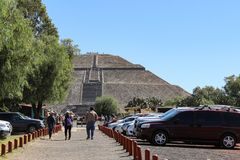 Pyramid of Sun in Teotihuacan, Mexico City royalty free stock photo