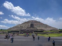 Pyramid of the Sun. Teotihuacan, Mexico. royalty free stock photo