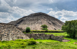 Pyramid of the Sun, Teotihuacan Stock Images