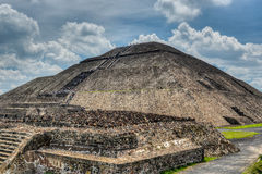 Pyramid of the Sun, Teotihuacan Royalty Free Stock Photography